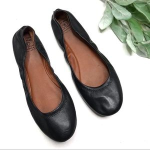 LUCKY BRAND | sz 9.5 black leather Emmir flats